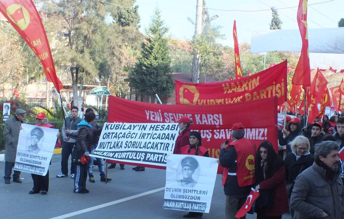 Halkın Kurtuluş Partisi İzmir İl Örgütü olarak Devrim Şehidi Kubilay'ı özüne uygun bir biçimde andık. 23 Aralık Pazar günü birçok siyasi parti ve demokratik kitle örgütünün yanı sıra, biz […]