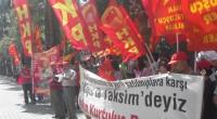 """1 Mayıs Alanı Vatanımızdır, Yasaklanamaz! 1 Mayıs 2015'te de Taksim'de, 1 Mayıs Alanı'ndayız! Tayyipgiller'in Valisi ferman buyurmuş: """"Toplantı ve gösteri yapılabilecek yerler belli. Taksim bunlardan biri değil"""". 1 Mayıs 1886 […]"""