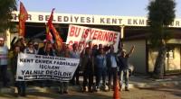 İzmir Büyükşehir Belediyesi'ne bağlı Grand Plaza'ya ait Kent Ekmek Fabrikası'nda çalışan Türk – İş'e bağlı Tek Gıda İş sendikasına üye işçiler belediyenin toplu iş sözleşmelerindeki maaş zammı taleplerinin çok altında […]
