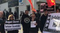 """Sefalet ücretine mahkum olmayacağımızı haykırdık 2018 yılı için """"Asgari Ücreti"""" daha doğru bir tanımlamayla """"Sefalet Ücreti""""ni belirleyecek komisyon son toplantısını bugün Çalışma ve Sosyal Güvenlik Bakanlığında gerçekleştirdiği sırada protesto ettik. […]"""