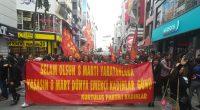 İzmir'de 8 Mart Dünya Emekçi Kadınlar Gününde Mücadele Kararlılığımızı Halkımızla Paylaştık. Halkın Kurtuluş Partili Kadınlar olarak; 8 Mart Dünya Emekçi Kadınlar Günü nedeniyle saat 13'de Karşıyaka Çarşıda, partili kadın erkek […]