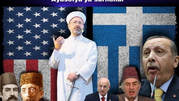 """Ey Kaçak Saray'ın Dincilik İşleri Başkanı Ali Erbaş nam hain! Geçen Cuma Ayasofya'da """"lanet okuduğun"""" kişi, nineni Yunan askerinin eline düşmekten kurtaran adamdır. Sende hiç mi insanlık yok? Hiç mi […]"""