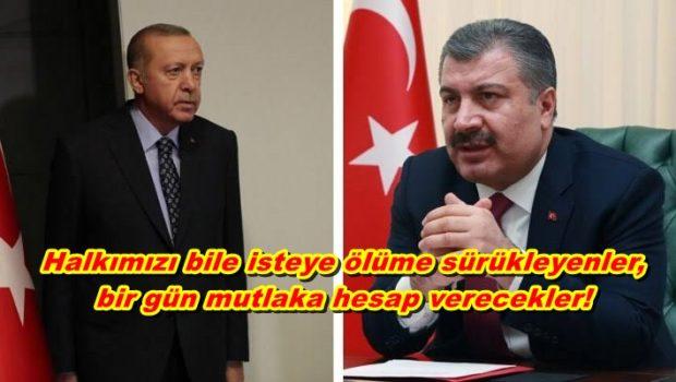 """AKP'giller ve Reisleri hakkında Kovid-19 salgınıyla ilgili Suç Duyurusu: Halkımızı bile isteye ölüme sürükleyenler, bir gün mutlaka hesap verecekler! """"Bakın burası çok önemli: """"Eyy Covid 19 sen kimsin ya, Dünya […]"""