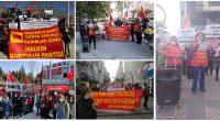 İstanbul 8 Mart, başta Ortadoğu Halkları olmak üzere Dünya Halklarına kan kusturan, milyonlarca masum kadın ve çocuğun katliam fermanını yazan, eli kanlı AB-D Emperyalistlerinin temsilcisi kadınların günü değildir. 8 Mart, […]